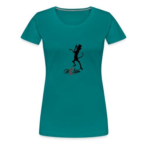 Call 2 Action | schwarz | Zylinder - Frauen Premium T-Shirt