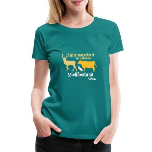 Motiv nationaler Viehbestand - Frauen Premium T-Shirt