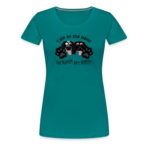 Two sprockers paw custom - Women's Premium T-Shirt