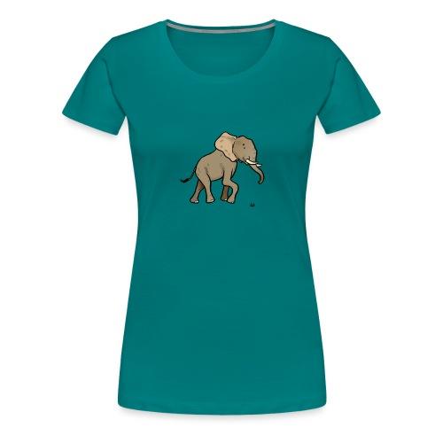 African Elephant - Premium T-skjorte for kvinner