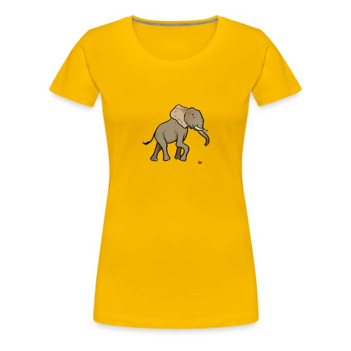 African Elephant - Frauen Premium T-Shirt