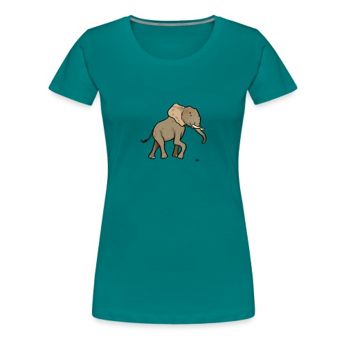 African Elephant - Naisten premium t-paita