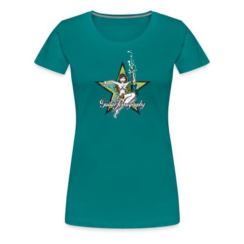 Pin-Up Guitar Pornography - Frauen Premium T-Shirt