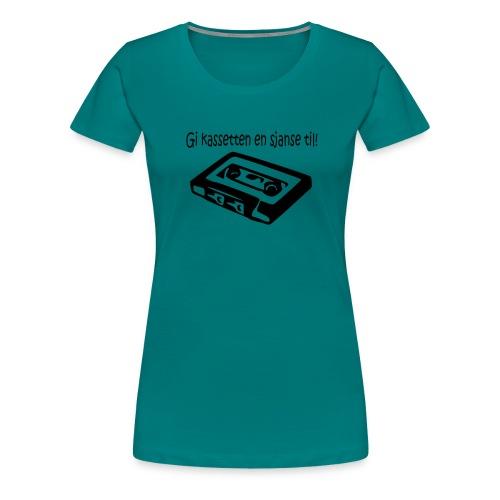 kassetten - Premium T-skjorte for kvinner