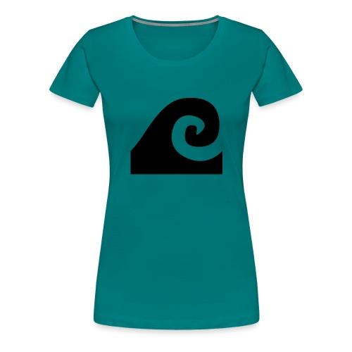 The Black Wave - Camiseta premium mujer