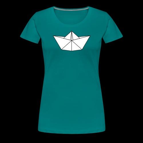 Origami Schiff - Frauen Premium T-Shirt
