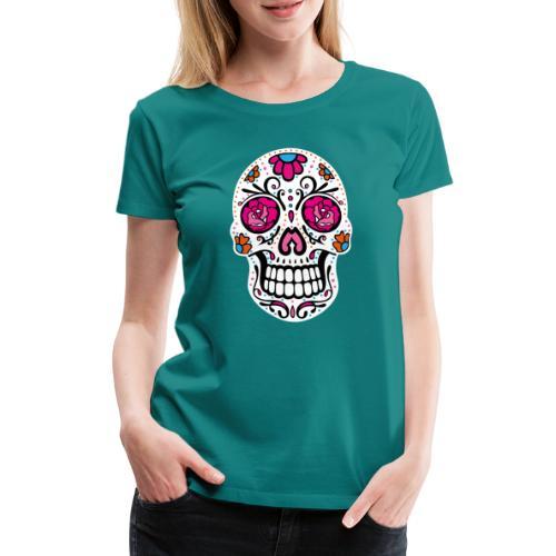 Sugar Skull Day Of The Dead Totenschädel - Frauen Premium T-Shirt