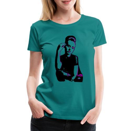ATTITUDE (purple) - Dame premium T-shirt