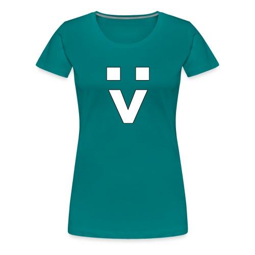 :> Smiley - Frauen Premium T-Shirt