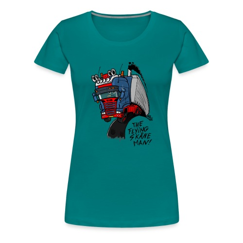 The flying skane man - Vrouwen Premium T-shirt