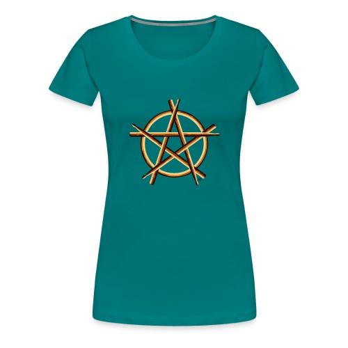 PAGAN DRUMMER - Women's Premium T-Shirt