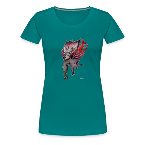 Wolf Japan Dämon Mythos Artwork Asien Mr. DiSzy - Frauen Premium T-Shirt
