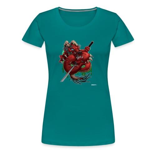 Asia Japan Style Demon Dragon by Mr. DiSzy - Frauen Premium T-Shirt