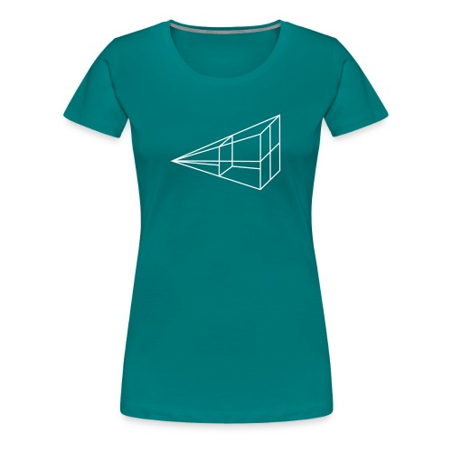 inverse kvadrat tegning - Premium T-skjorte for kvinner