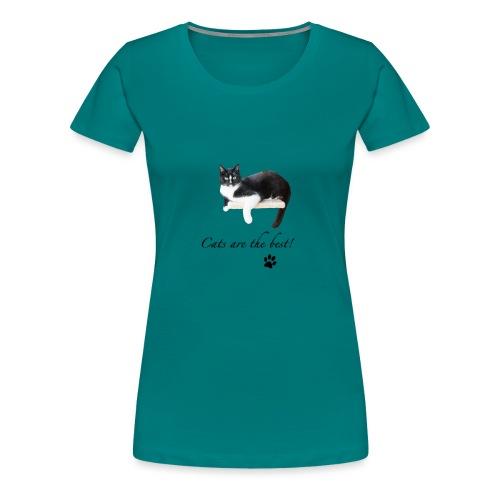 Geschenkidee Katze Cats are the best - Frauen Premium T-Shirt