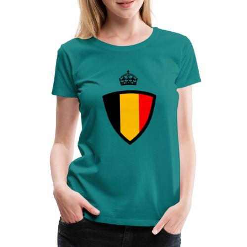 Koninkrijk belgië schild - T-shirt Premium Femme