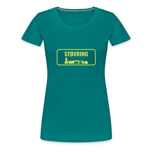 Støvring Byskilt New - Dame premium T-shirt