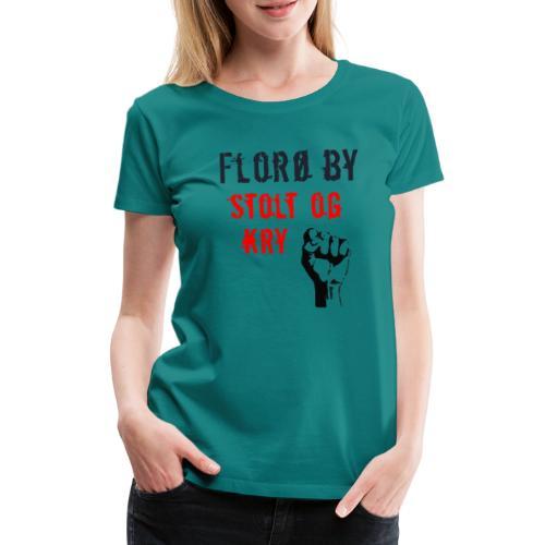 Florø by - Premium T-skjorte for kvinner