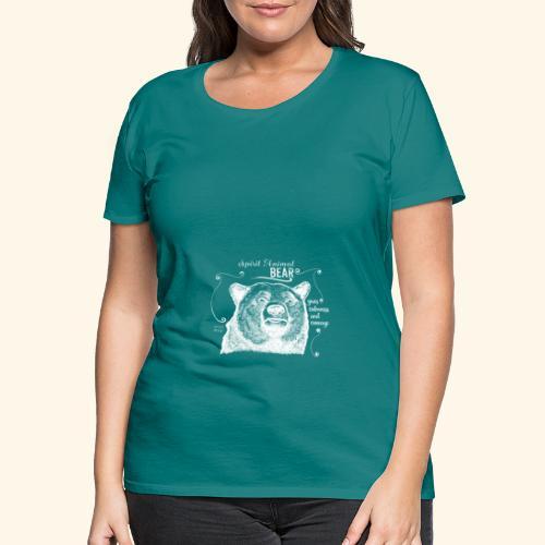 Spirit Animal Bär weiß - Frauen Premium T-Shirt