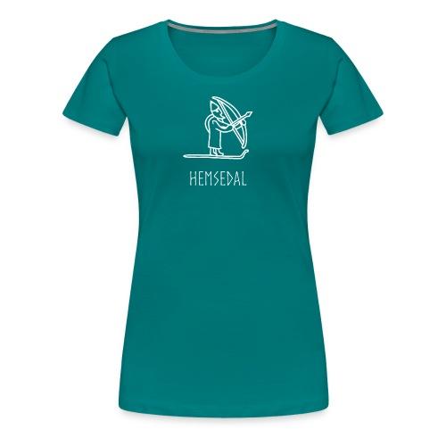 Hemsedal Med Ullr På Ski - Premium T-skjorte for kvinner
