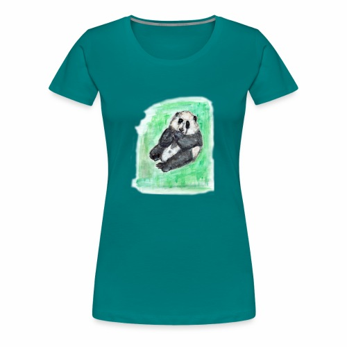 Scruffy panda - Women's Premium T-Shirt