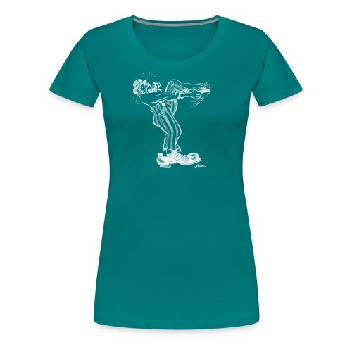 Immer dieser Quirax mit den Schuhen (weiß) - Frauen Premium T-Shirt