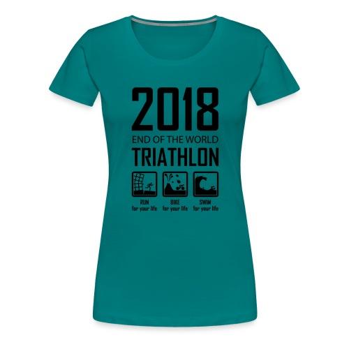 2018 End of the World Triathlon - Vrouwen Premium T-shirt