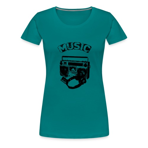 musik1 - Dame premium T-shirt