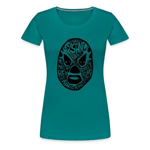 luchador mask2 - Vrouwen Premium T-shirt