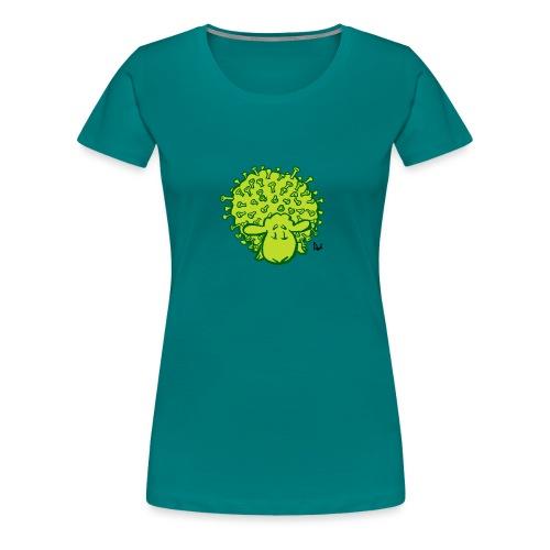 Virus får - Dame premium T-shirt