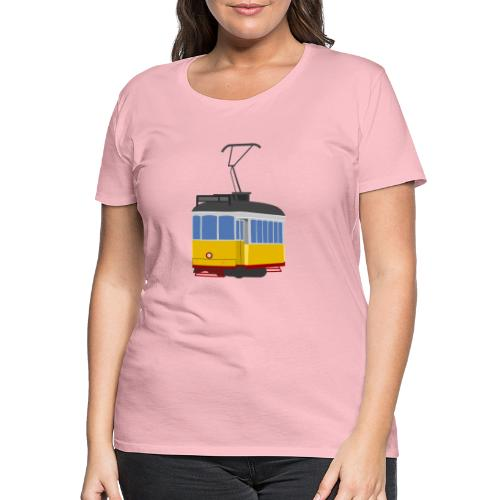 Tram car yellow - Women's Premium T-Shirt