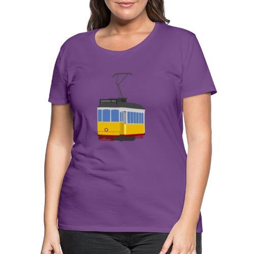Tram car yellow - Women's Premium T-Shirt