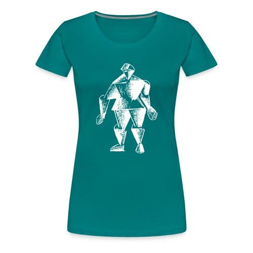 White Robot Knight - Women's Premium T-Shirt