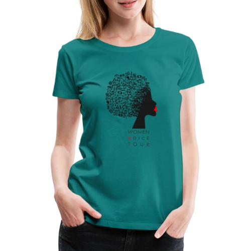 WomenVoiceTour - Frauen Premium T-Shirt