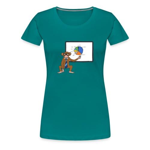 Aap houdt presentatie - Vrouwen Premium T-shirt