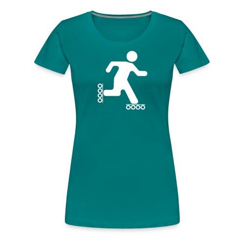 Strichmann Speedskater - Frauen Premium T-Shirt