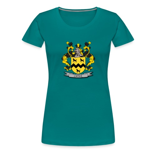 Carrick Family Crest - Women's Premium T-Shirt