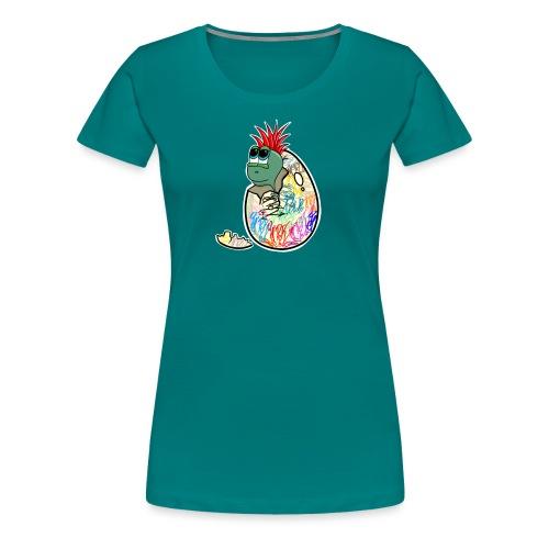 Punk Graffiti Bebe Schildkröte / Baby Dino Turtle - Frauen Premium T-Shirt