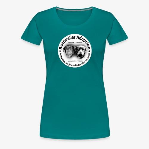 ROTTWEILER ADOPTION LOGO NOIR ET BLANC - T-shirt Premium Femme