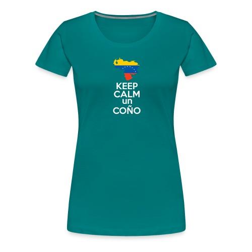Keep calm Venezuela - Modelo Color y Blanco - Camiseta premium mujer