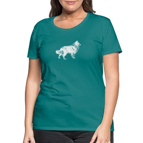 Collie negativ - Frauen Premium T-Shirt