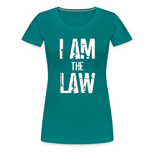 Tank top girl woman I AM THE LAW per avvocatessa - Women's Premium T-Shirt
