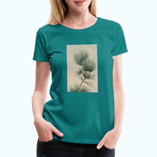 Wilde Pinie Aquarell - Women's Premium T-Shirt