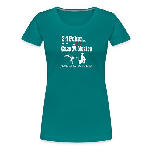 blitz white 01 01 - Frauen Premium T-Shirt