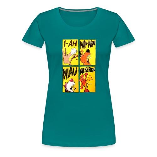 Die Bremer Stadtmusikanten. Retro-Comic - Frauen Premium T-Shirt