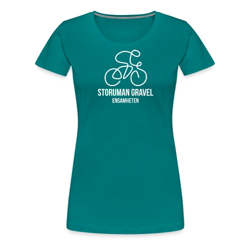 Storuman Gravel / Vit - Premium-T-shirt dam