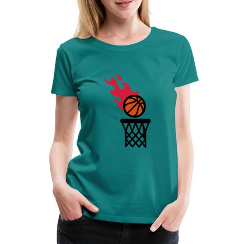 fire basketball - Women's Premium T-Shirt
