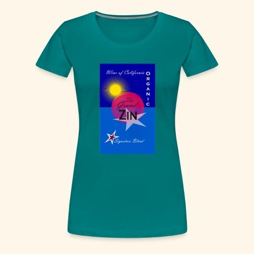 wine at playa summernight - Premium-T-shirt dam