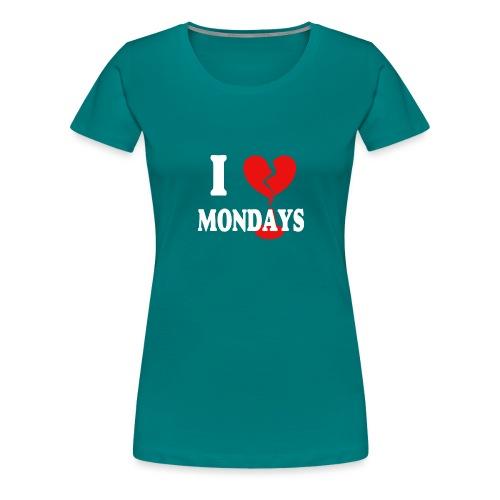 I hate Mondays (white) - Frauen Premium T-Shirt