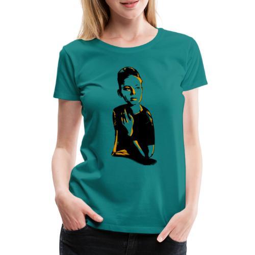 WOKE (orange) - Dame premium T-shirt